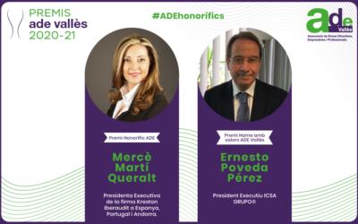 Premis Ade Vallès 2020: reconeixement a la promoció de la igualtat en l'àmbit laboral i visibilització del talent i lideratge femení en l'empresa